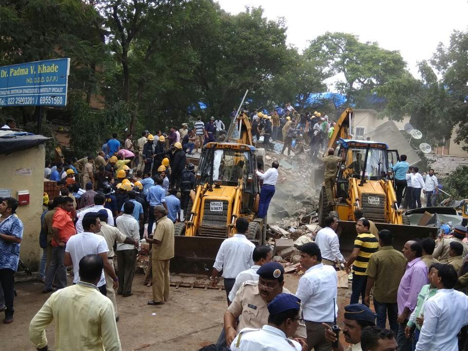 Building collapse in Mumbai,Damodar Park Ghatkopar West,Ghatkopar building collapse