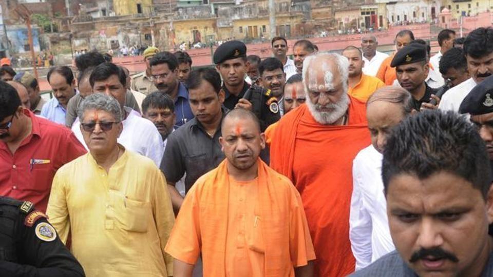 Uttar Pradesh chief minister Yogi Adityanath during his last visit to Ayodhya on May 31.