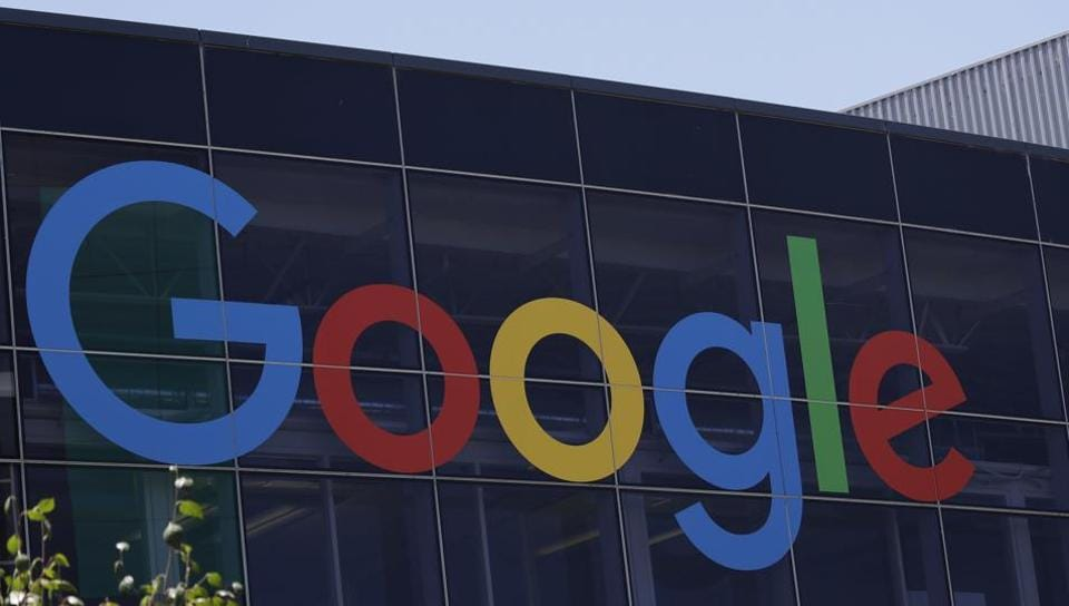 The Google logo at the company's headquarters in Mountain View, California.