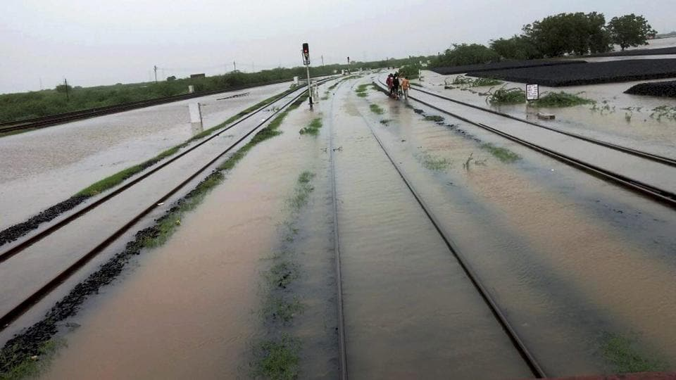 Incessant rain has thrown normal life out of gear in several areas, hitting road and rail transport.  (PTI)