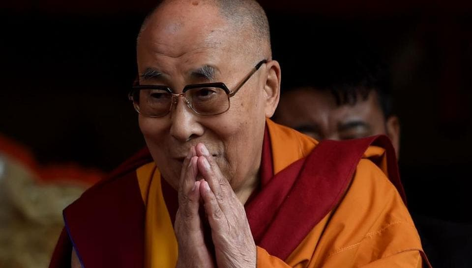 Tibetan spiritual leader the Dalai Lama arrives for his teachings during the 'Degon Yarchos Chenmo 2017' (Buddhist Summer Council) at the Diskit monastery in the Nubra Valley in India's Ladakh region near the Chinese border on July 12, 2017.