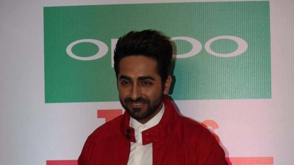 Ayushmann Khurrana during a promotional programme in Mumbai.
