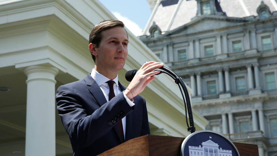 Senior advisor to US President Donal Trump and his son-in-law Jared Kushner at the White House after being interviewed by the Senate Intelligence Committee in Washington on Monday.