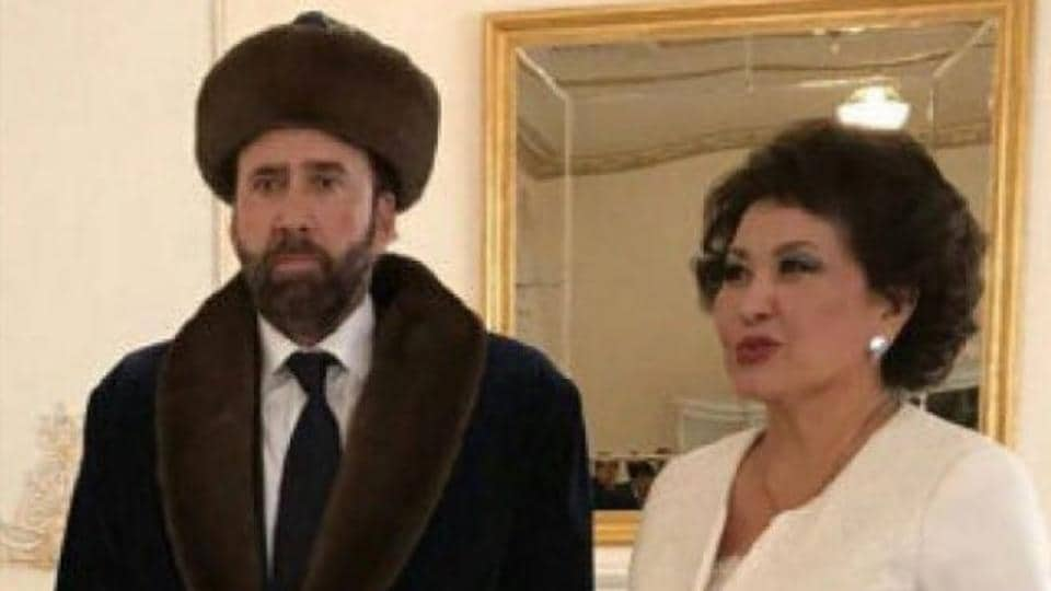 Nicolas Cage was attending the 13th annual Eurasia International Festival.