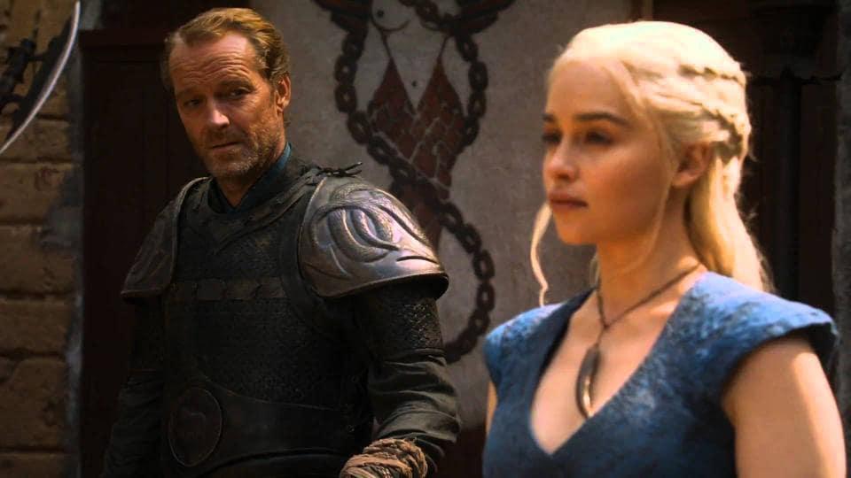 Ser Jorah has loved Daenerys since the 'moment he me her'.