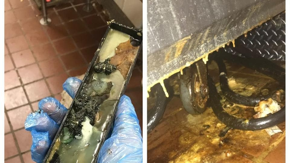 A US man took to Twitter to share some photos of a gross, slimy substance that he said was found inside the McDonald's ice cream machine.  (@phuckyounick /Twitter)
