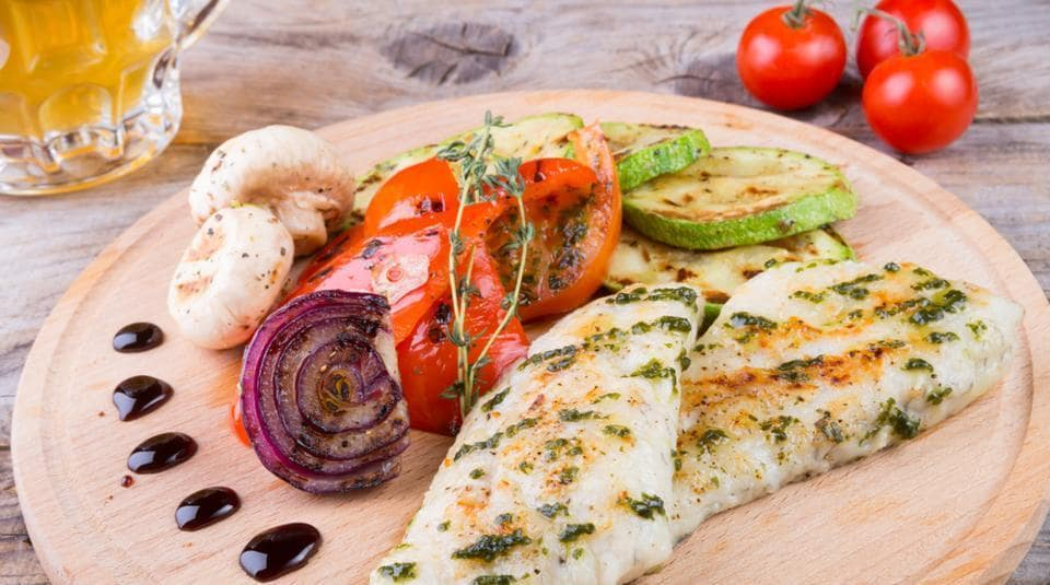 A Mediterranean diet is rich in fresh fruits and vegetables, high on lean protein and low on refined sugars and saturated fats.