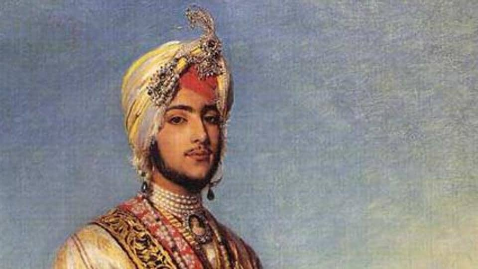 A cropped version of the portrait of Duleep Singh (1838–1893) in 1854.