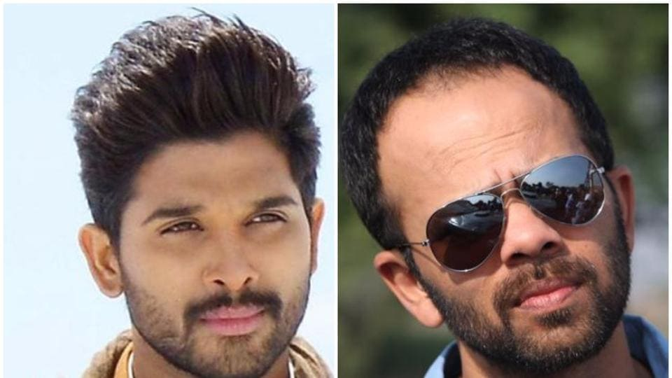 Allu Arjun was shooting in the same studio in Mumbai as the team of Golmaal Again on Tuesday when they met.