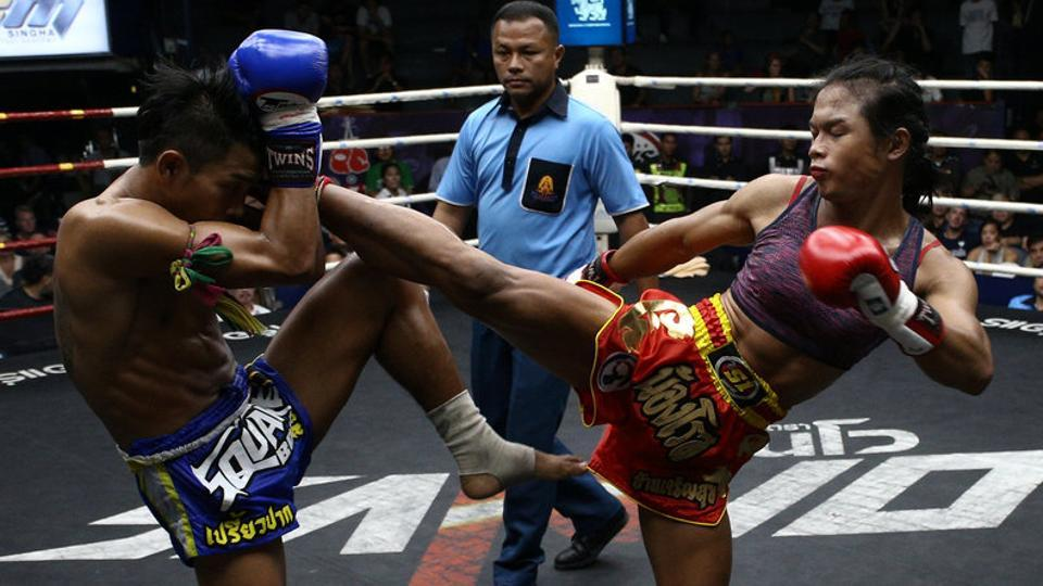 'She fights like a man because she is really a man,'said Priewpak,a male fighter who lost a thrilling five-round match to Rose at Rajadamnern Stadium in the Thai capital. (Athit Perawongmetha / REUTERS)