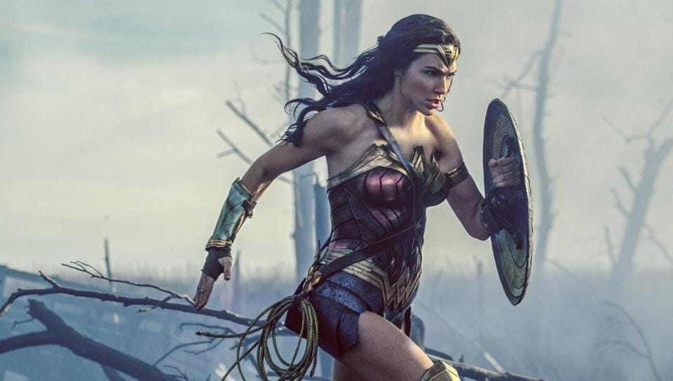 This image released by Warner Bros. Entertainment shows Gal Gadot in a scene from Wonder Woman.