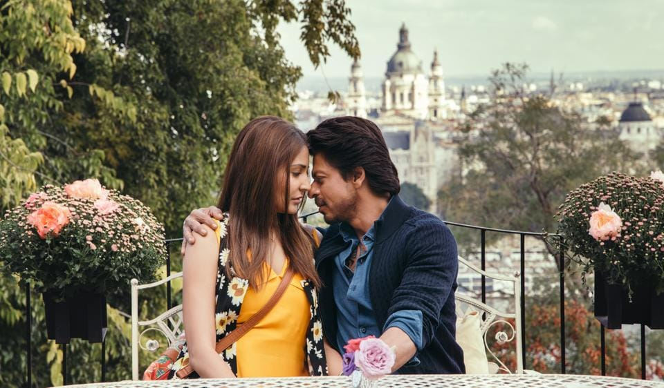 Shah Rukh Khan and Anushka Sharma in a still from the Hawayein, the new song from Jab Harry Met Sejal,
