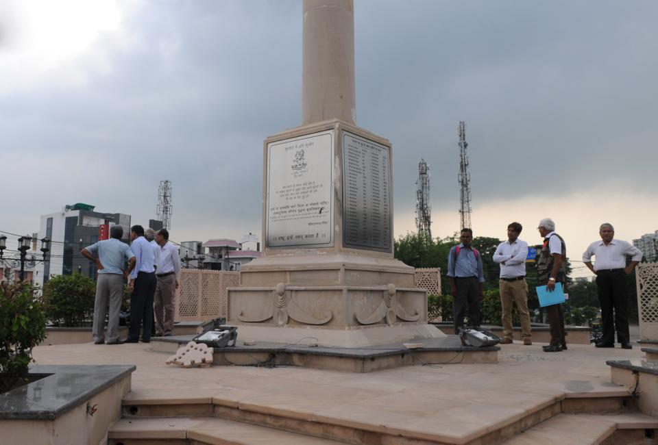 Police Asks Citizens To Help Identify 'Miscreants — War Memorial Vandalised