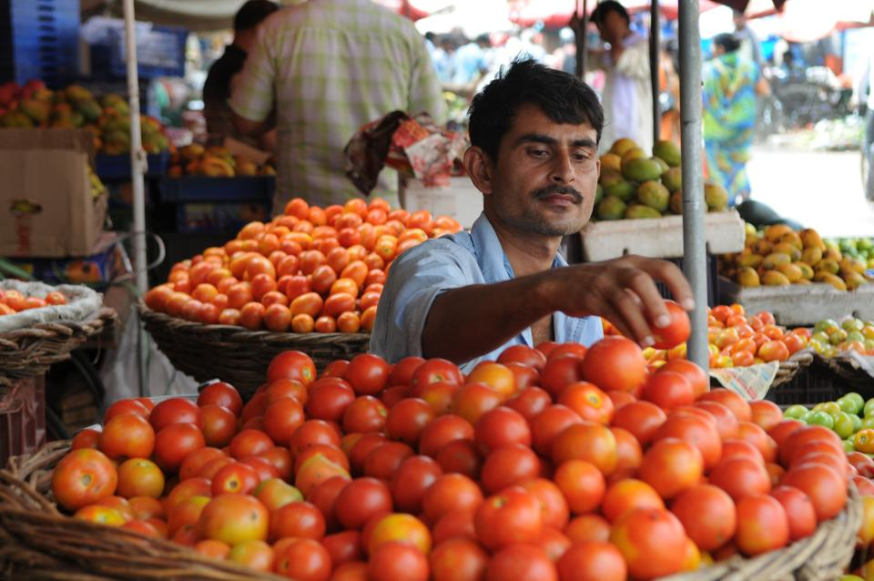 Though the price of tomatoes in some areas dipped by ₹10 on Wednesday, in most areas of the city the kitchen staple cost ₹90-₹100 per kg.
