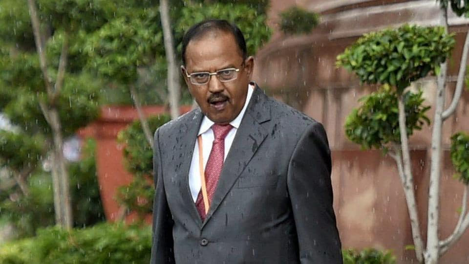 NSA Ajit Doval leaves Parliament House after attending the swearing-in ceremony of President Ram Nath Kovind in New Delhi on July 25, 2017.