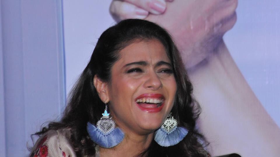 Kajol during the promotion of VIP 2 in New Delhi.