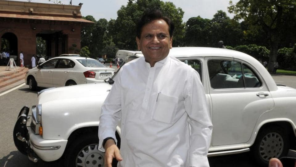 Ahmed Patel files nomination for Rajya Sabha