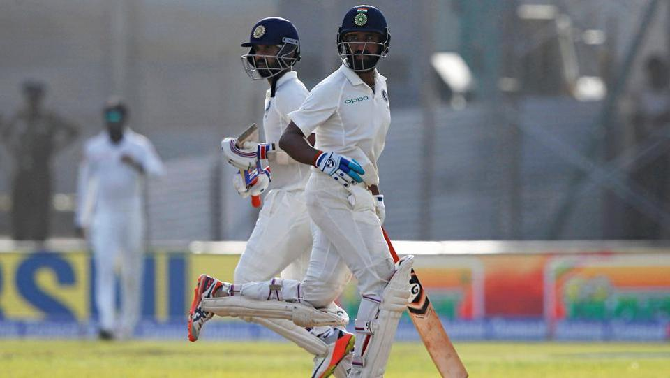 Pujara and Ajinkya Rahane took India to 399/3 at stumps on Day 1 of the first Test at Galle. (REUTERS)
