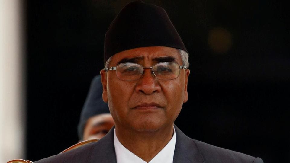 File photo of Nepalese Prime Minister Sher Bahadur Deuba.