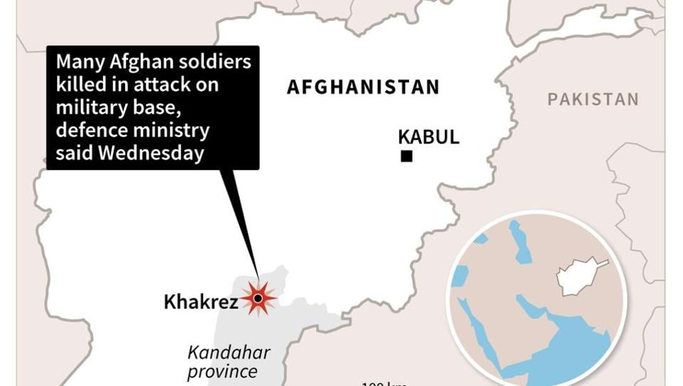 Afghan Soldiers Killed In Taliban Attack On Kandahar Base - Us military bases in afghanistan 2017 map