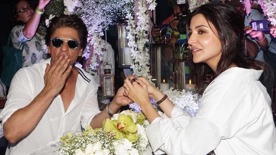 Shah Rukh Khan and Anushka Sharma at the song launch of Jab Harry Met Sejal's song, Hawayein.