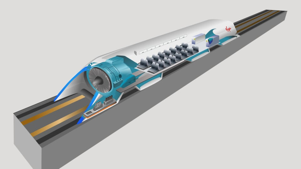 Concept art of Hyperloop inner works.