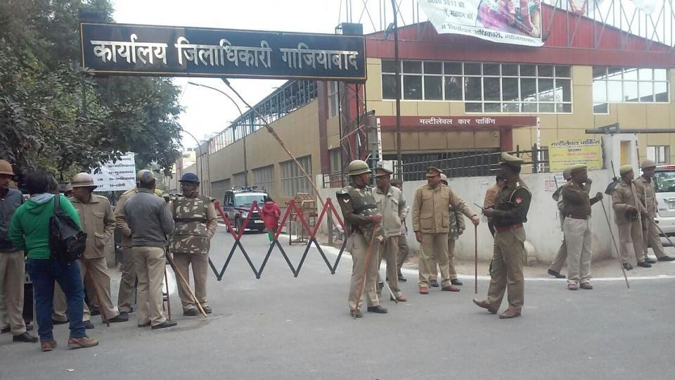 The officials said that two of the constables were from Kavi Nagar, while one each was from Sahibabad police station and police lines.