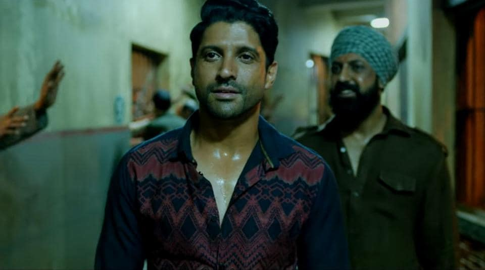 Farhan Akhtar in a still from the film.