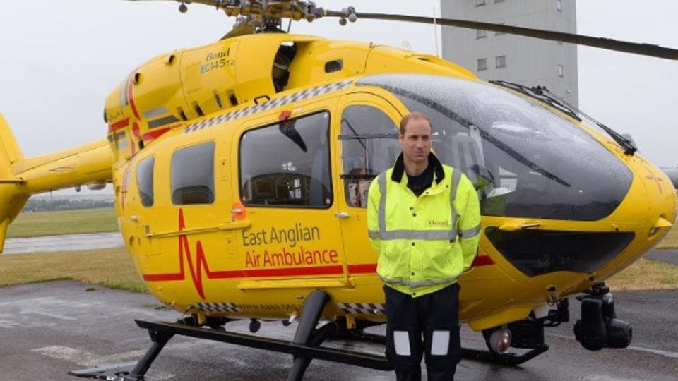 Prince William,Air ambulance pilot,Britain Prince