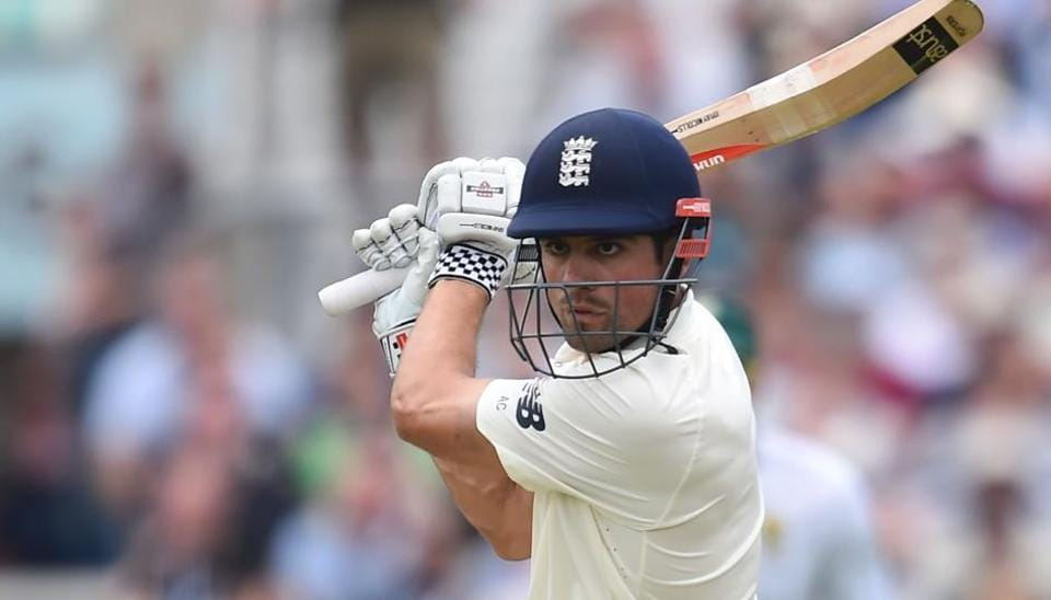 Alastair Cook in action during the first day of the third Test between England and South Africa at The Oval. Get full cricket score of England vs South Africa here