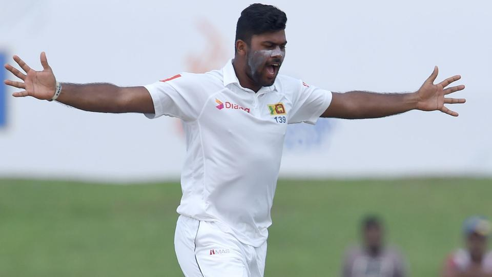 Sri Lankan Lahiru Kumara was on target on Thursday, ending up with three Indian wickets. (AFP)