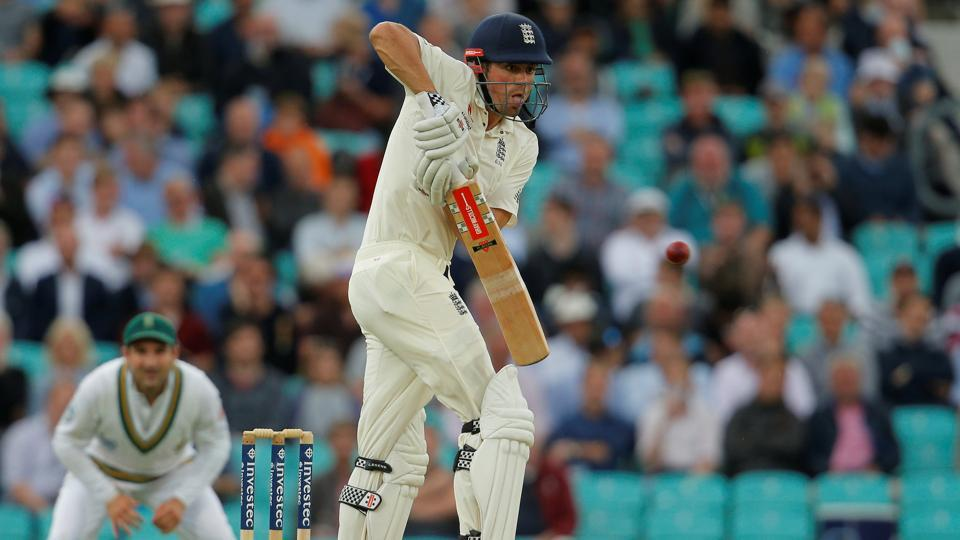 England's Alastair Cook againstSouthAfrica on Day 1 of the third Test at The Oval.