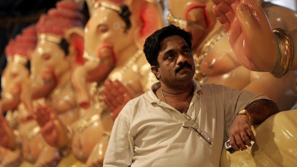A file photo of Vijay Khatu at his workshop in Parel.