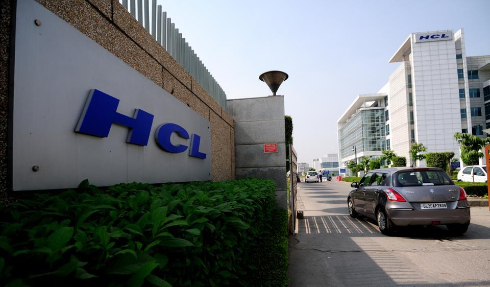 Shares of the company rose by over 3 %, after HCL Tech posted stellar results.