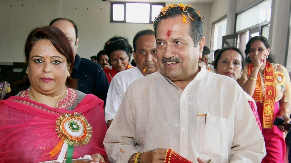 RSS leader Indresh Kumar arrives for a meeting organised by the Bharat-Tibet Sahyog Manch in Jammu on Thursday.