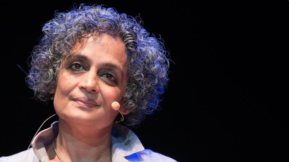 Indian novelist Arundhati Roy presents her book The Ministry of Utmost Happiness at the Parco della Musica Auditorium in Rome, on June 12