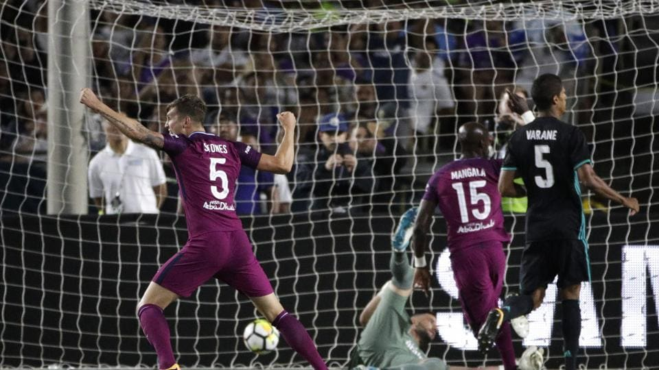 Manchester City beat Real Madrid 4-1 in an International Champions Cup pre-season friendly.