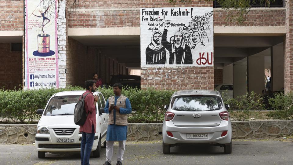 JNU students have been protesting in the varsity premises, seeking permission for their registrations.