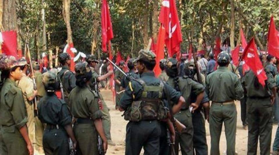 A gathering of Maoists in an undisclosed location in Chhattisgarh.