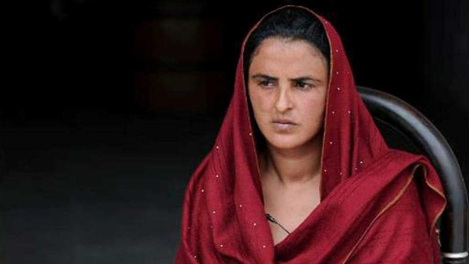 File photo of Mukhtaran Mai, who was raped on the orders of a panchayat or village council in Pakistan in 2002.