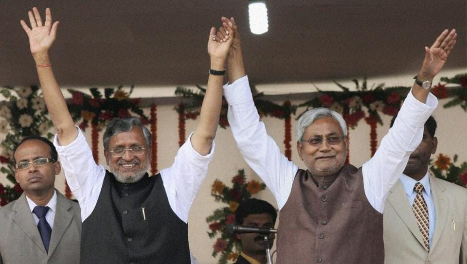 Nitish Kumar was sworn in as the chief minister of Bihar for the sixth time.