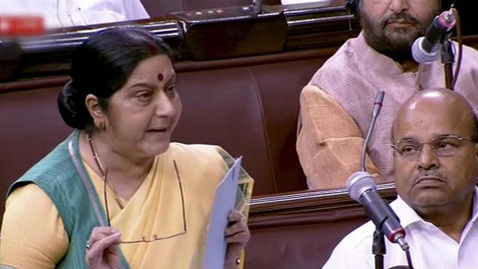 Congress politicising Iraq abductions, Sushma Swaraj says