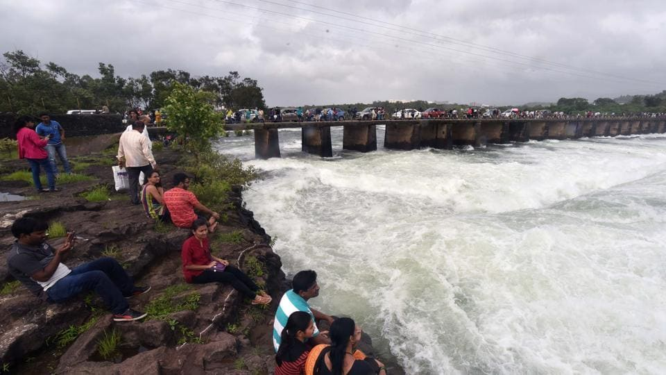 14 thousand cusec water was released from the Khadwasla dam on July 22.