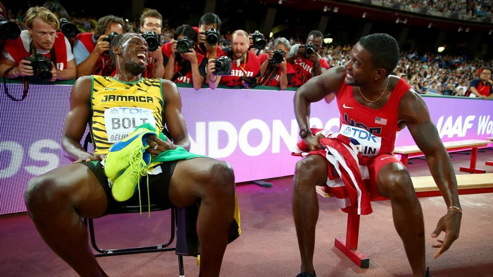 Justin Gatlin, twice banned for doping violations, has only beaten Usain Bolt once in a World Athletics Championship.