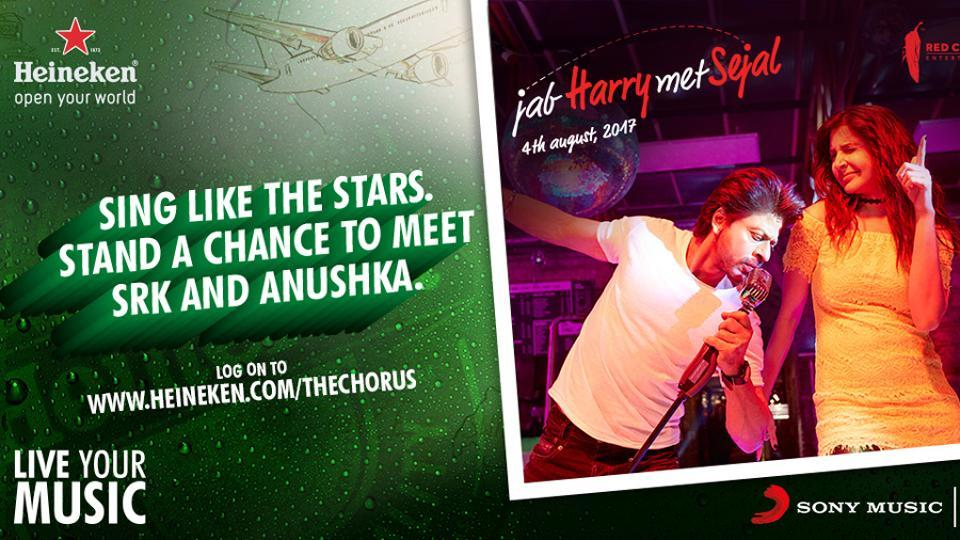 Here's Your GOLDEN Chance To Feature In The Greatest Bollywood Chorus With Shah Rukh Khan & Anushka Sharma
