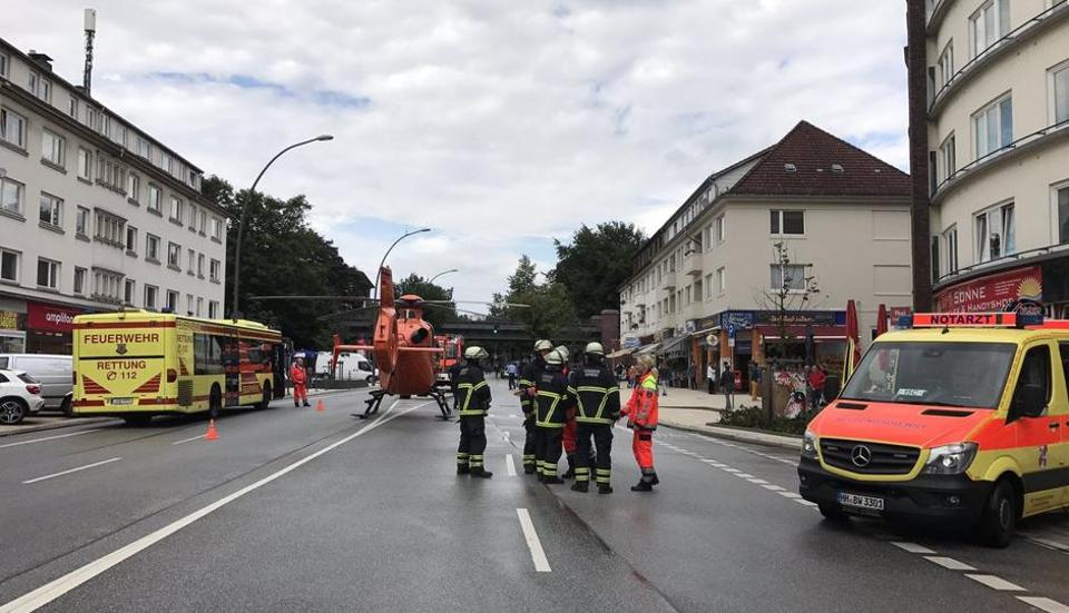 One person was killed and several were injured in a knife attack in a supermarket in the northern German city of Hamburg.