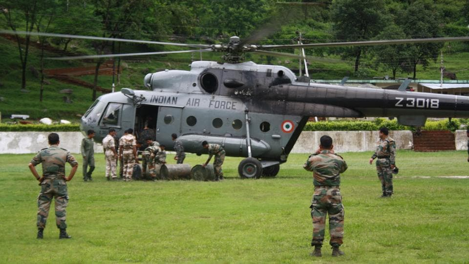 The Indian Airforce has taken part in several rescue operations in flood-hit states across the country.
