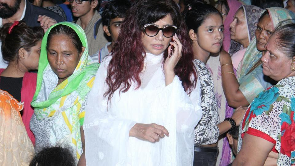 Actor Tina Ghai also attended the funeral. (Photo: Pramod Thakur/HT)