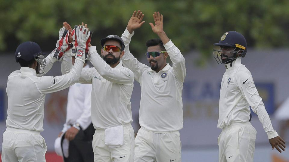India bowled out Sri Lanka for 291, with a lead of 309 runs. However, Virat Kohli decided not to enforce follow-on and as the visitors came out to bat. (AP)