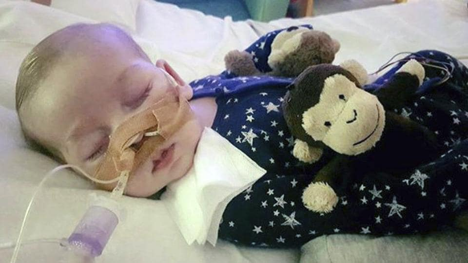 This is an undated photo of sick 11-month old baby Charlie Gard provided by his family, taken at Great Ormond Street Hospital in London. British media are reporting a family announcement that 11-month old Charlie Gard, has died Friday July 28, 2017.